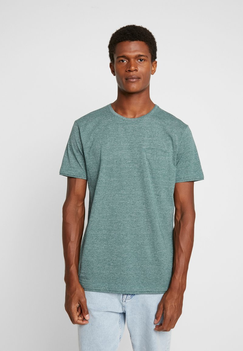 Esprit - PEACH GRINDL  - T-Shirt basic - dusty green