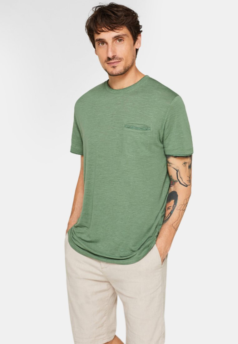 Esprit - T-Shirt basic - dark khaki