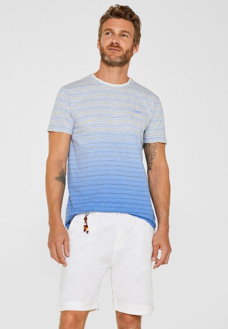 Esprit - MIT FARBVERLAUF - T-Shirt print - blue