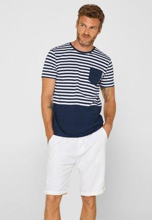 T MIT STREIFEN - T-shirt imprimé - navy