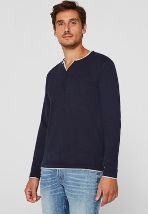 2IN1 PEACH - Langarmshirt - navy
