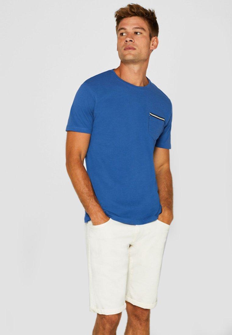 Basique Mit Esprit shirt BrusttascheT Blue 35RAL4jq