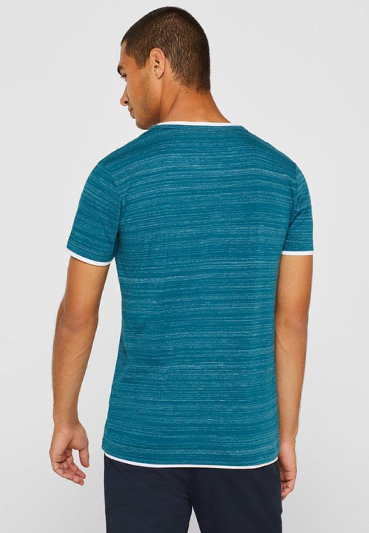 Blue Imprimé Petrol Layer shirt lookT Esprit Mit 2EI9DWH