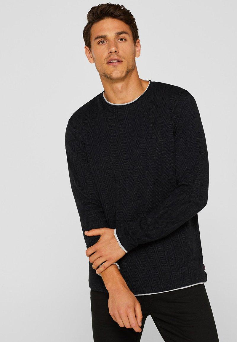 Esprit - MIT LAYER-LOOK - Langarmshirt - black