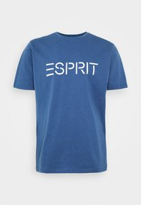 Esprit - LOGO - T-shirt con stampa - blue - 0