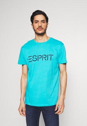 LOGO - Print T-shirt - aqua green