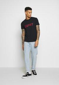Esprit - LOGO - T-shirt con stampa - black - 1