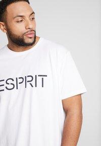 Esprit - LOGO - Print T-shirt - white - 3