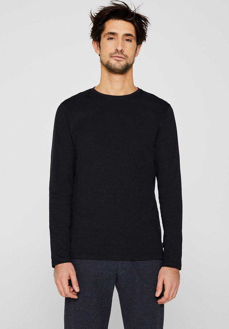 Esprit - LONG SLEEVE - Bluzka z długim rękawem - black