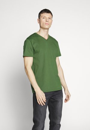 Jednoduché triko - khaki green