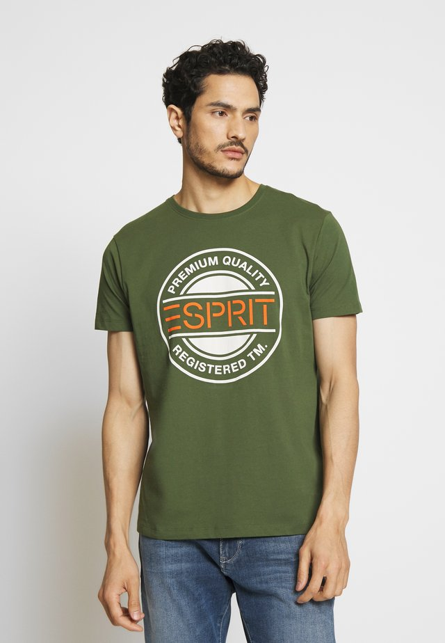 Camiseta estampada - khaki green
