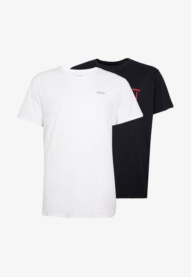 LOG 2 PACK - T-shirt print - black/white