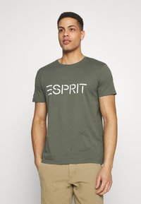 Esprit - ICON 2 PACK - T-shirt con stampa - khaki - 3