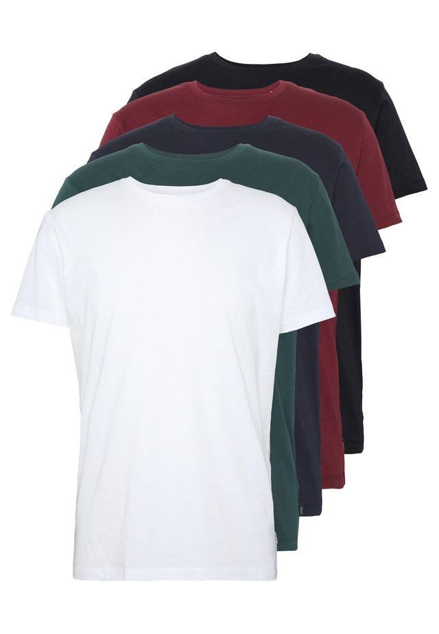 5 PACK - T-shirt basic - teal blue