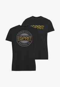 Esprit - ICON 2 PACK - T-shirt print - black - 4