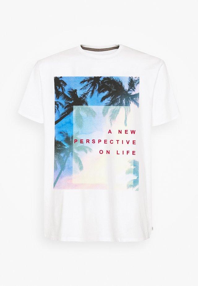 T-shirt med print - off-white