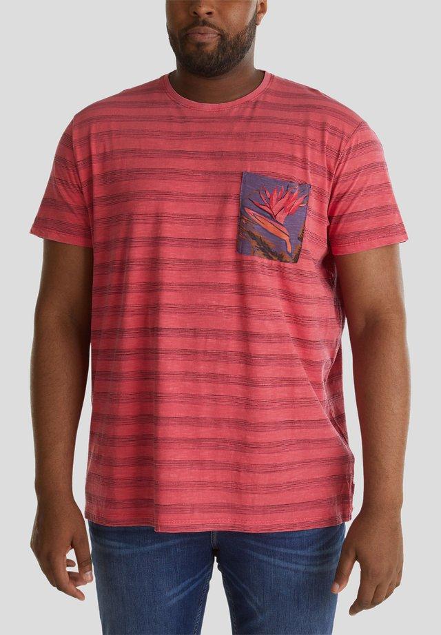 MIT TASCH - T-shirt print - coral red