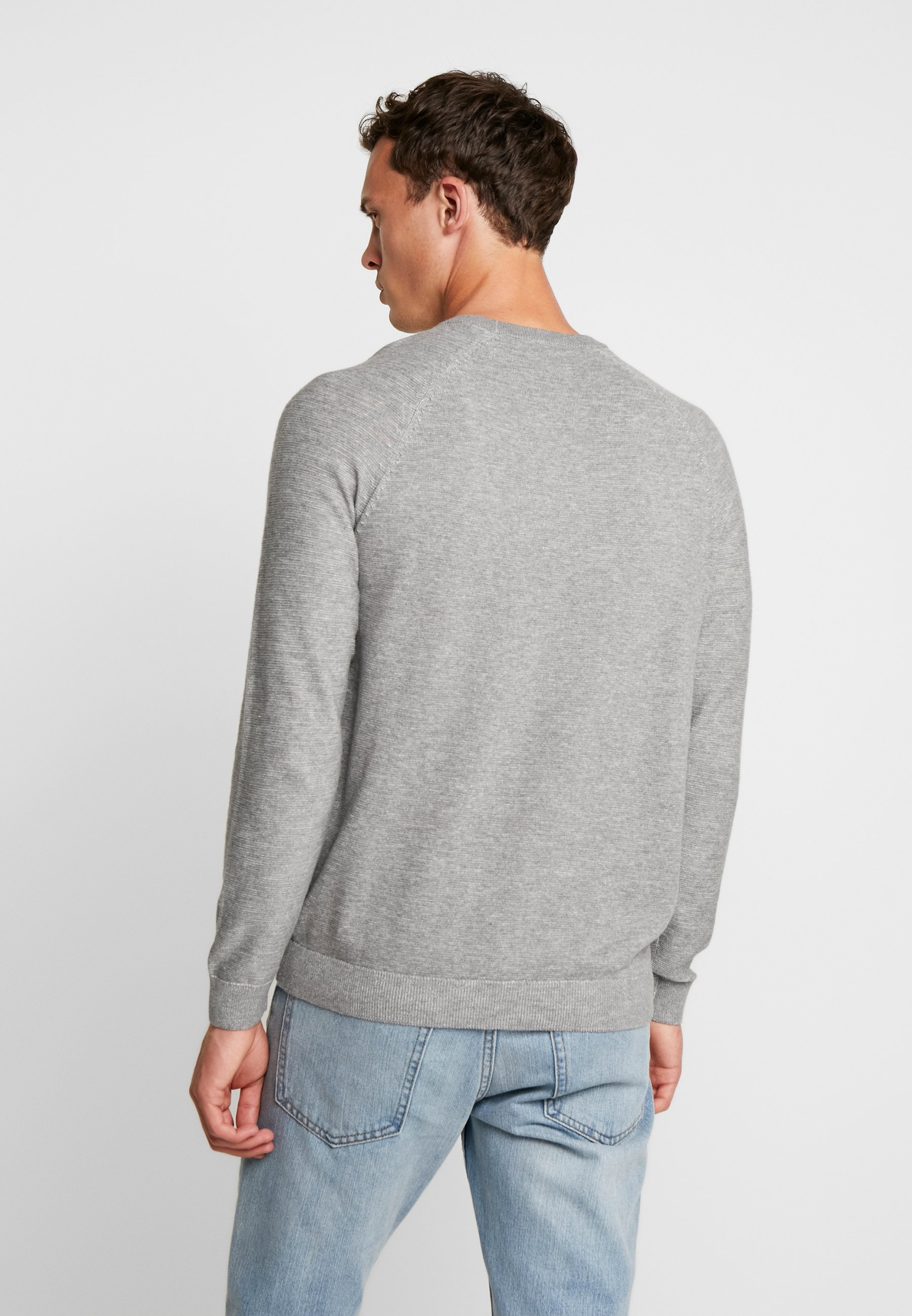 NeckPullover Plaited Light Grey Crew Esprit nkXwP80O