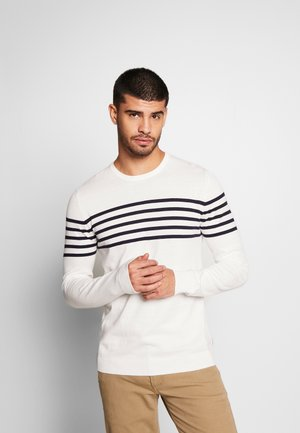 STRIPE CREW - Maglione - off white