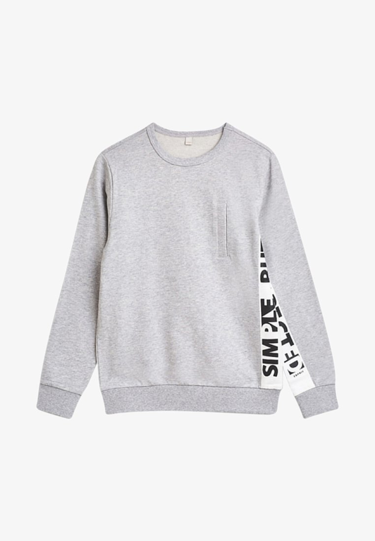 Esprit - MIT WORDING-PRINT - Sweatshirt - heather silver