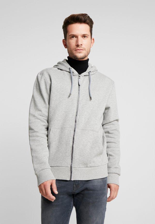Huvtröja med dragkedja - medium grey