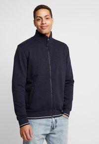 Esprit - veste en sweat zippée - navy - 0