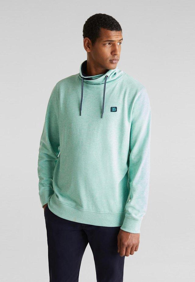 MIT ZWEIFARBIGEM TUNNELKRAGEN - Sweatshirt - light turquoise