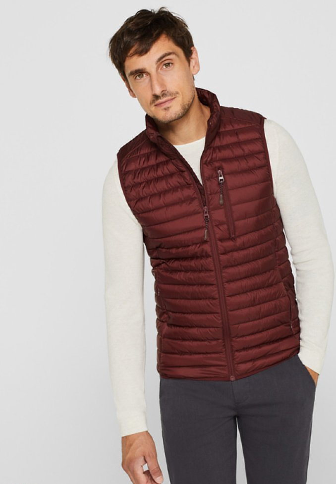 Esprit - Waistcoat - dark red