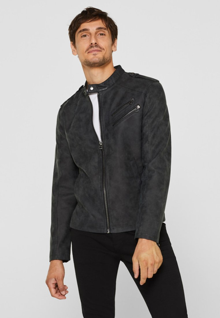 Esprit - Kunstlederjacke - black