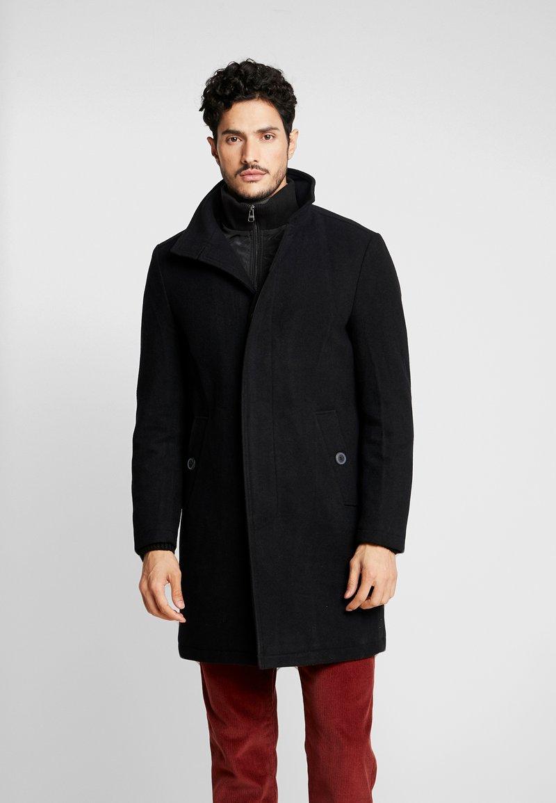 Esprit - STAND UP COAT - Abrigo - black