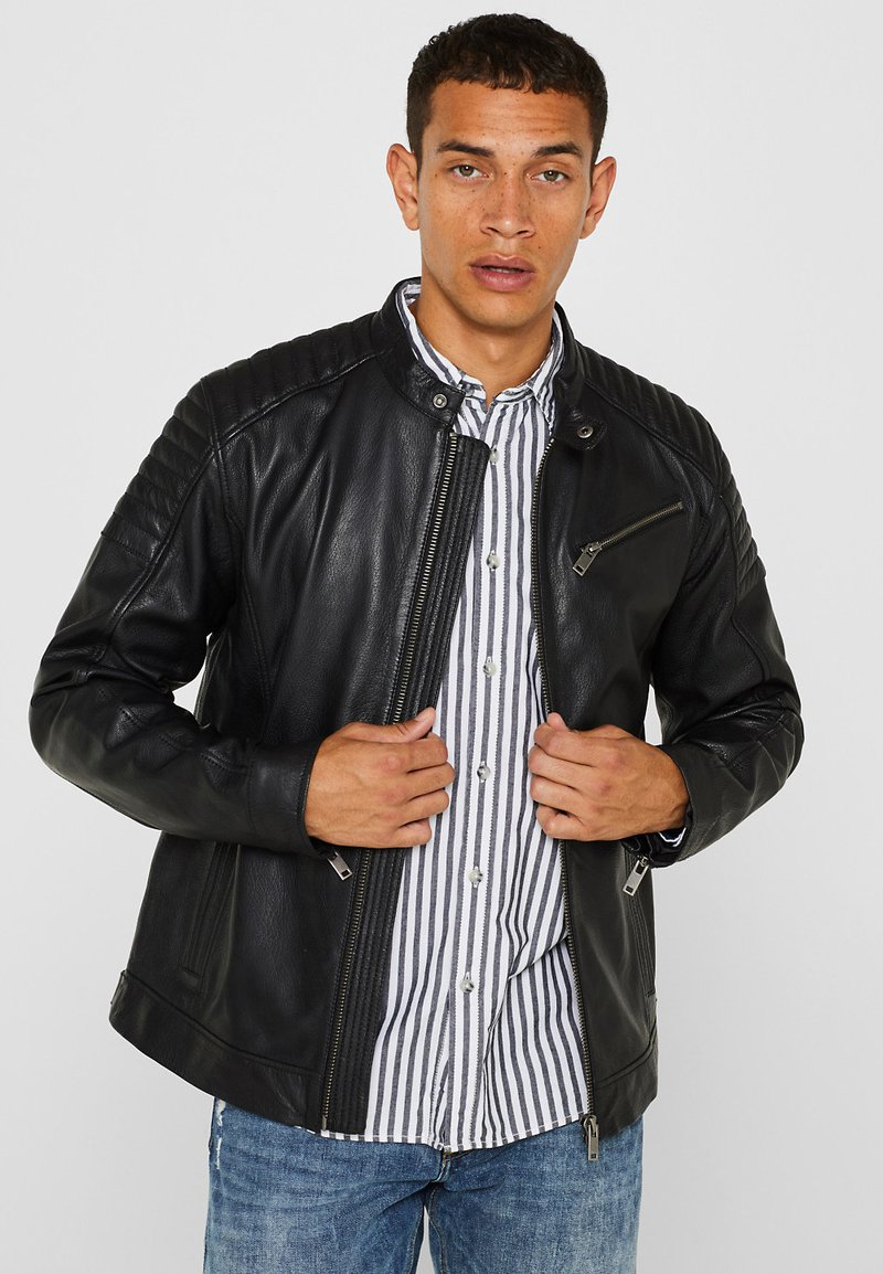Esprit - Leather jacket - black
