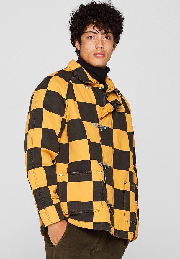 Esprit - MIT KARO-MUSTER - Summer jacket - black
