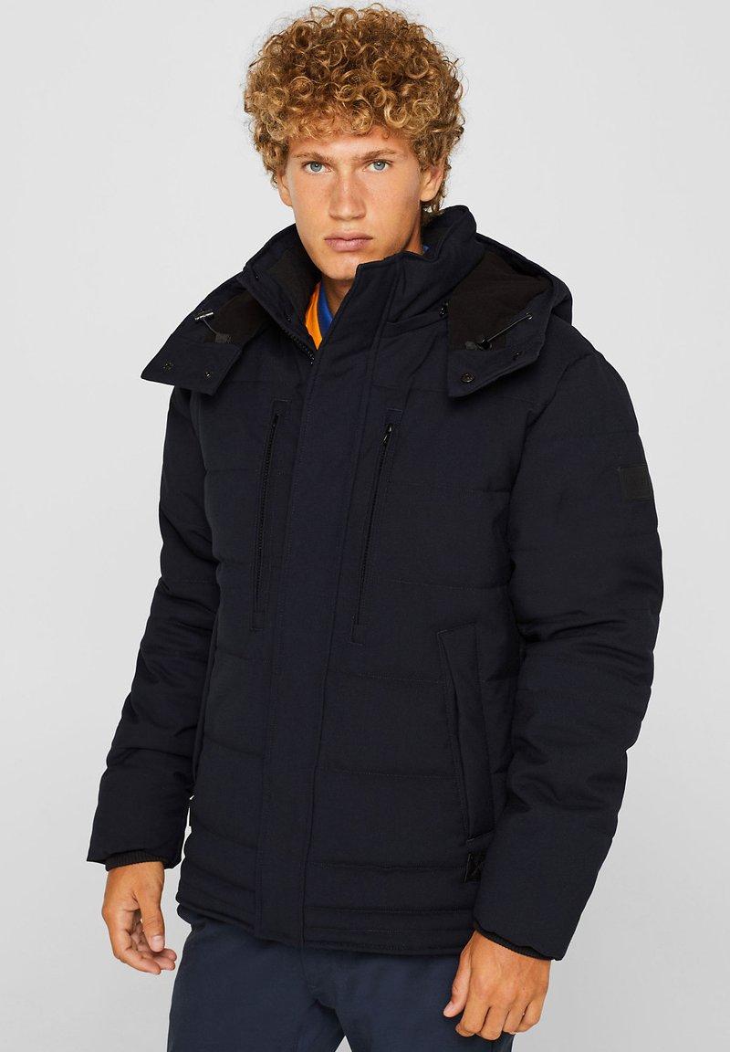Esprit - MIT VARIABLER KAPUZE - Winter jacket - navy