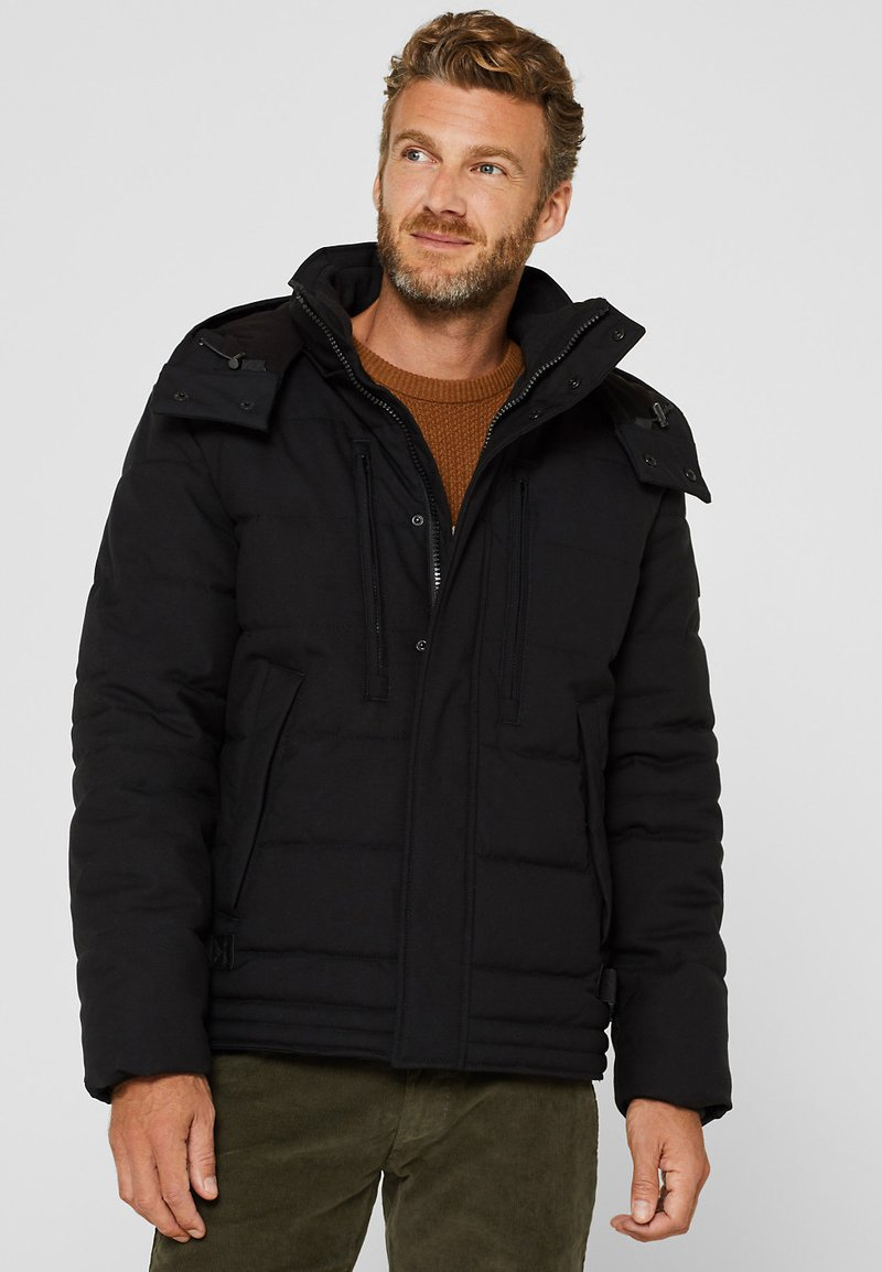 Esprit - MIT VARIABLER KAPUZE - Winter jacket - black