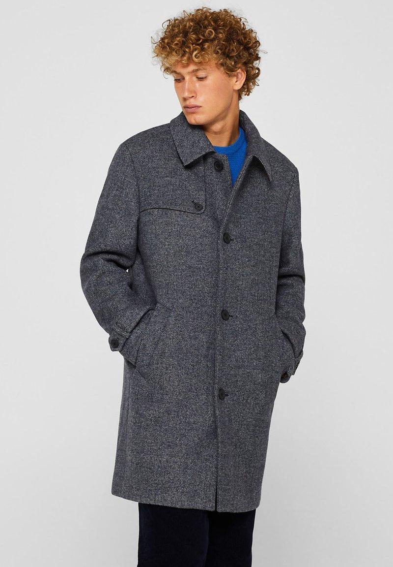 Esprit - MIT BREITEM KRAGEN - Trenchcoat - dark blue