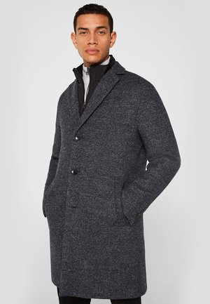 MIT STEPP-INLAY - Classic coat - dark grey