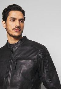 Esprit - BIKER - Leren jas - black - 3