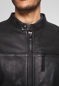 Esprit - BIKER - Leren jas - black - 5