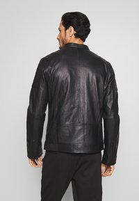 Esprit - BIKER - Leren jas - black - 2
