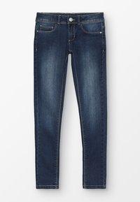 Esprit - PANTS - Slim fit jeans - dark indigo denim - 0