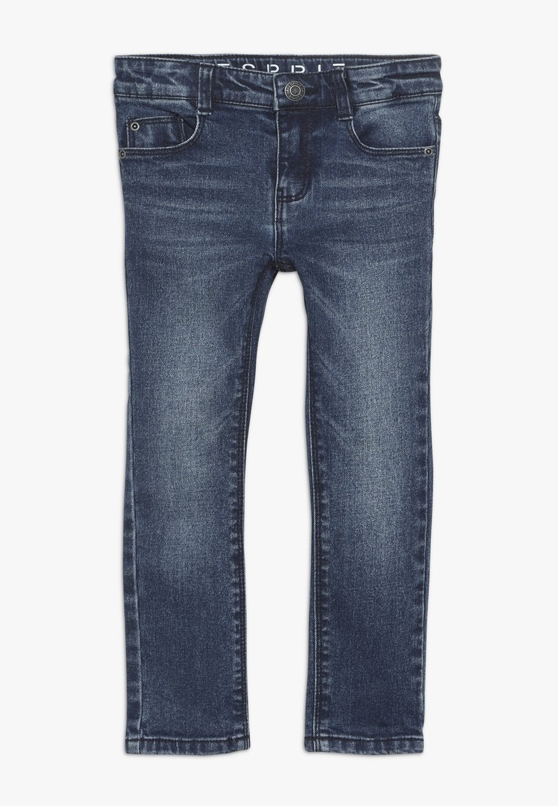Esprit - PANTS - Jeans Slim Fit - dark indigo denim