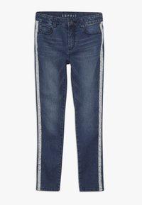 Esprit - PANTS - Skinny džíny - dark indigo denim - 0