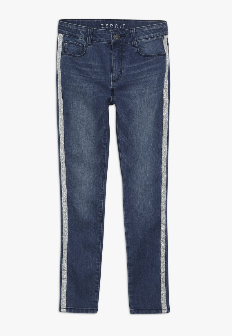 Esprit - PANTS - Skinny džíny - dark indigo denim