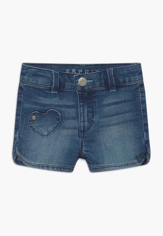 Jeansshort - light-blue denim