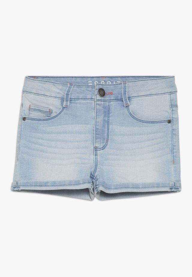 Jeans Short / cowboy shorts - bleached denim