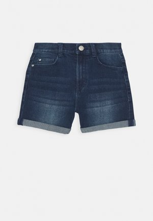 BERMUDA - Denim shorts - dark indigo denim