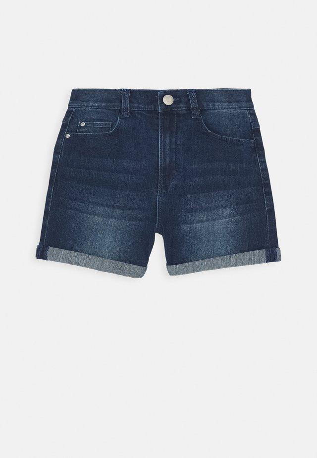 BERMUDA - Denim shorts - dark indigo denim