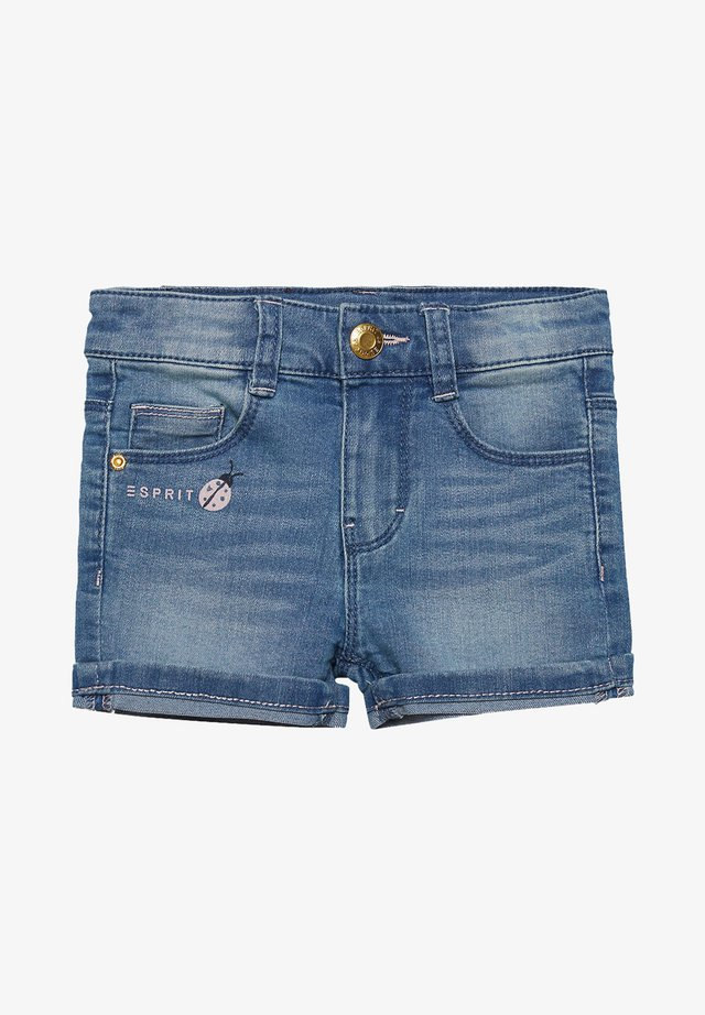Jeansshort - light indigo denim