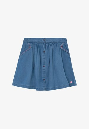 SKIRT - A-line skirt - medium wash denim
