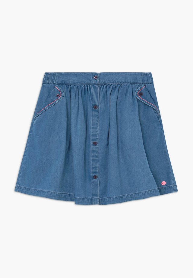 SKIRT - A-lijn rok - medium wash denim